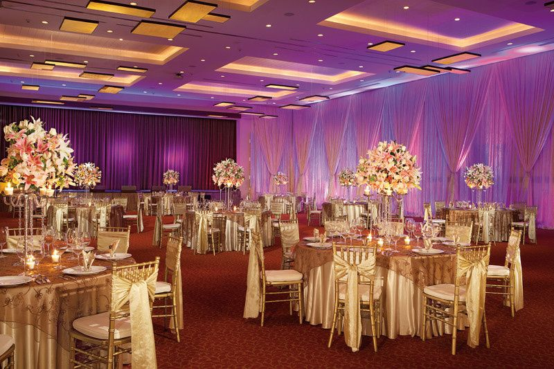 Indoor reception setup