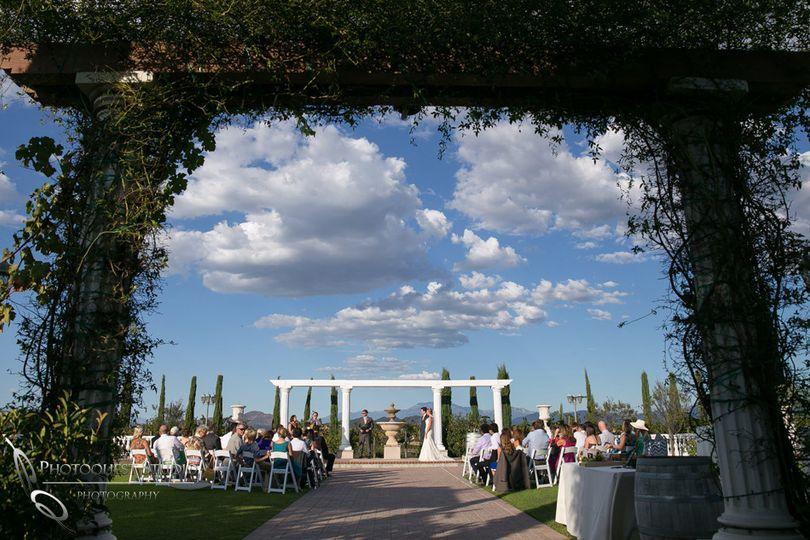 beautiful sky at mount palomar temecula winery wed