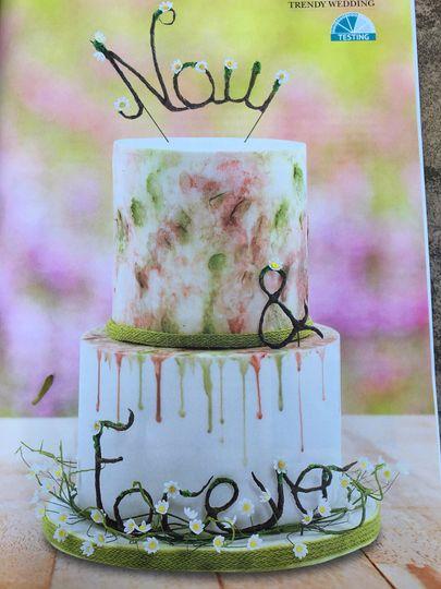A beautiful fun spring cake