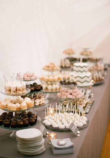 Wedding cake and small dessert