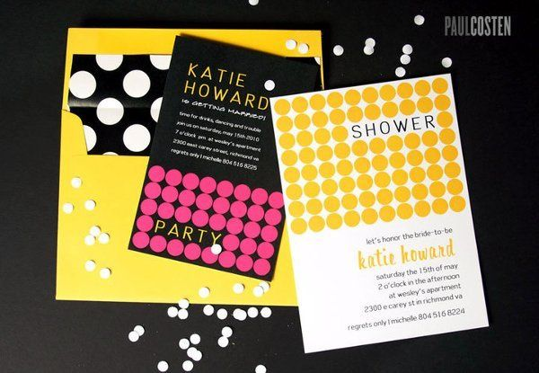 Bridal Shower and Bachelorette Party Invite set with custom liner.