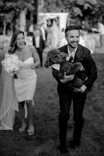 Down the aisle w/ dog at home