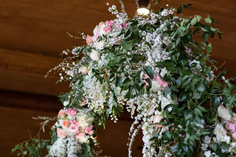 Blooming flower decor, Photo Credit: A + A Photography