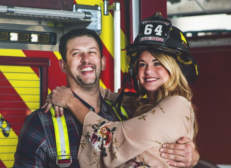 Fireman engagement session