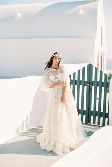 Styled session in Santorini