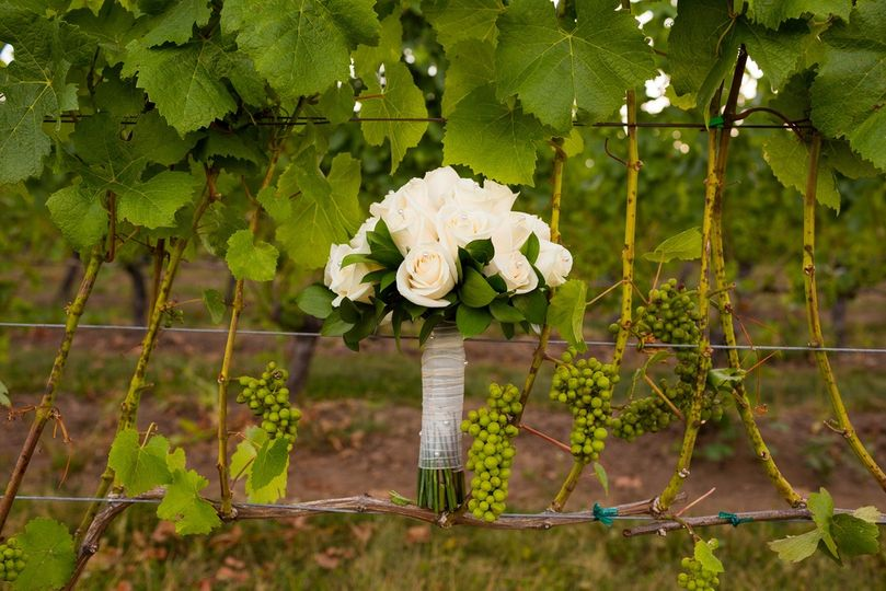 Bridal Bouquet in Vineyard