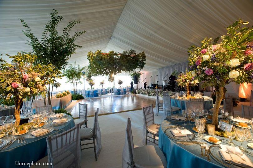 CUSTOM CEILING & SIDE WALL TREATMENT FOR WEDDING RECEPTION TENT