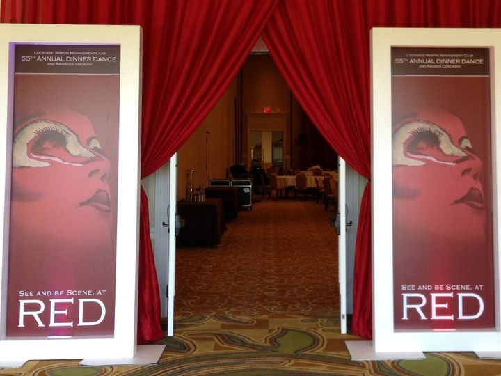 Tmx 1429194491524 Accent Panels With Swag Entrance Orlando, FL wedding eventproduction