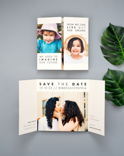 Gatefold Save the Date