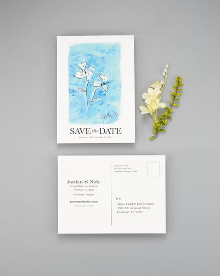 Flower Save the Date
