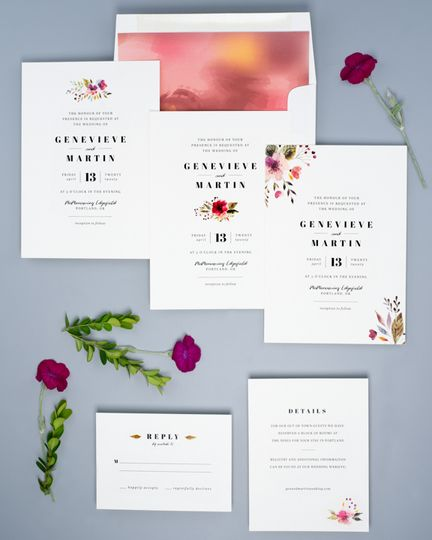 Rosy invitations
