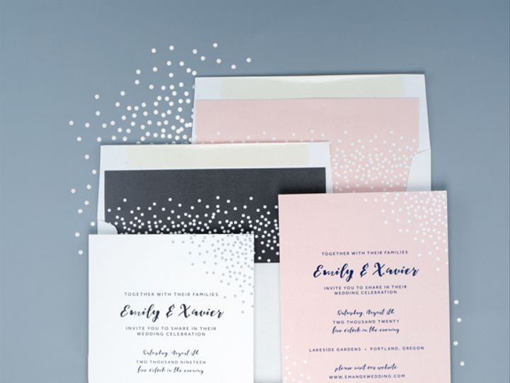 Tmx Confetti Chic Pinkgrey Dsc4953 17 2 51 1333605 159554779337022 Portland, OR wedding invitation