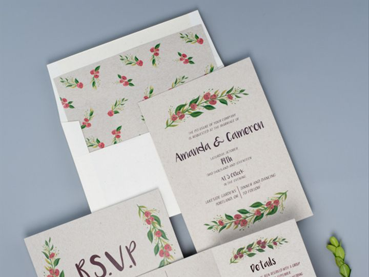 Tmx Festive Berry Red 2 Dsc4930 13 51 1333605 159546039052785 Portland, OR wedding invitation