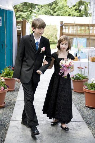 Flower girl dress custom made by Jennifer Welch for J. Ashley Sellen Couture