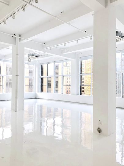 White rooms with windows