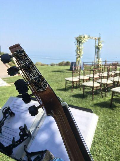 Beach wedding on the bluff