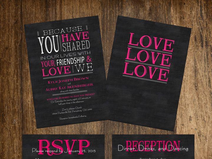 Tmx 1419629170163 Pinklovewedproof Oregon wedding invitation