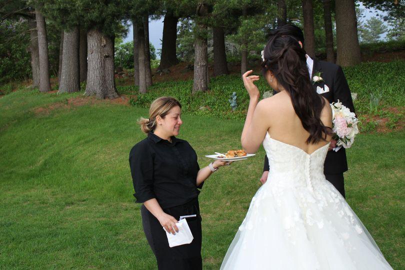 Fireside bridal attendant