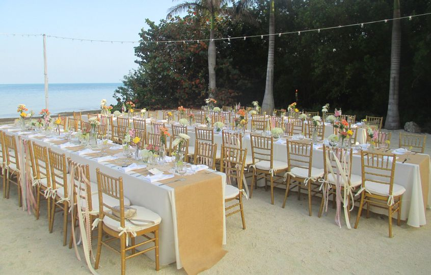 Reception by the beach