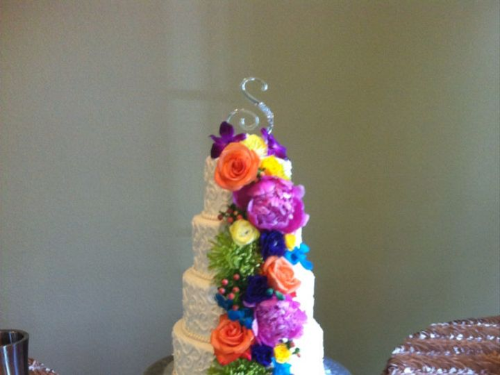 Tmx 1374852218408 Colorful Cake Cascade Broken Arrow, OK wedding florist