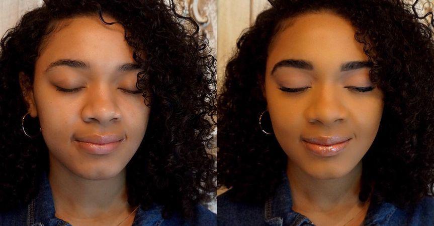 Before & after natural makeup