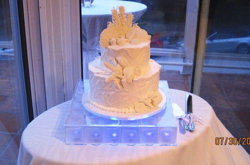 wedding lighted cake base