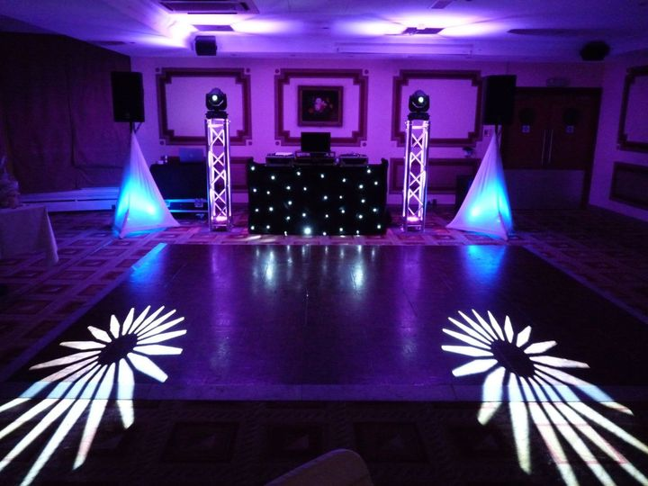 Uplighting, dance floor lighting, moving head lights
