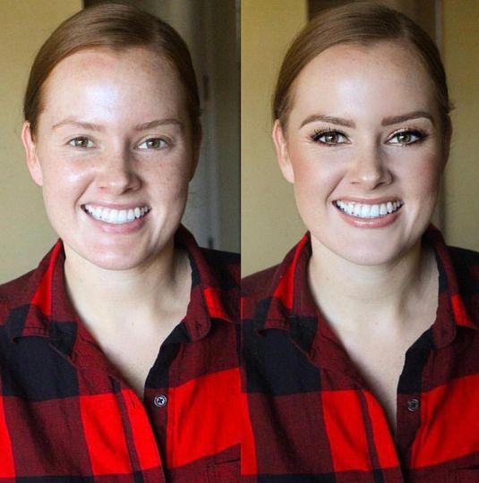 Soft, gorgeous bridesmaid makeup