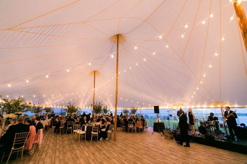 Lighting inside the tent