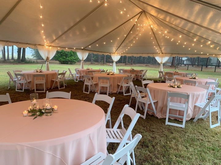 Lighted tent reception