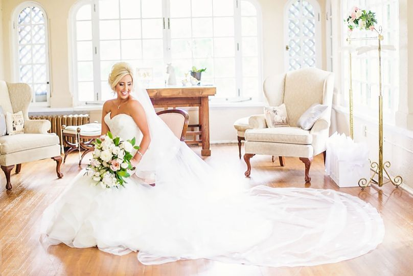 Bright and cheery bridal suite