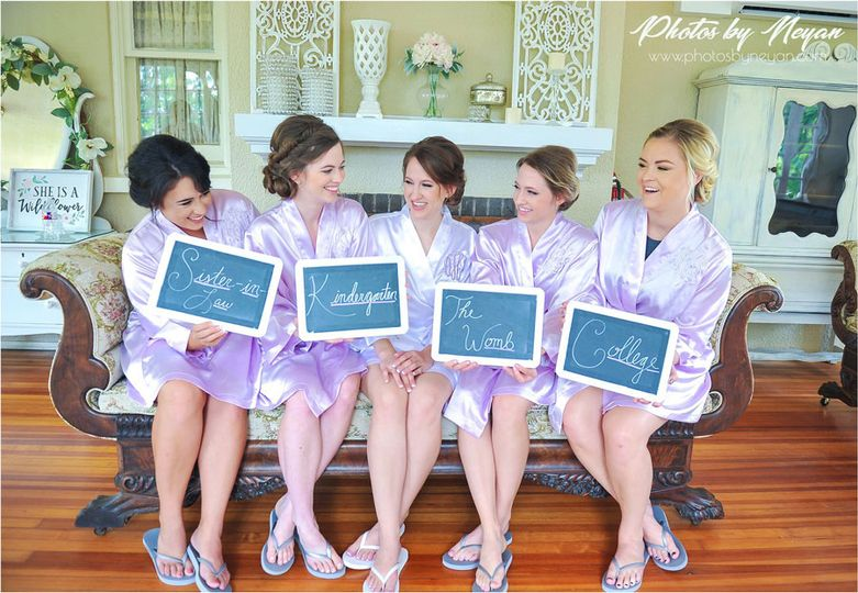 Bridal suite with the bridal party