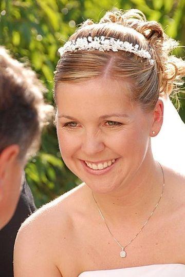 bride in her receiving line