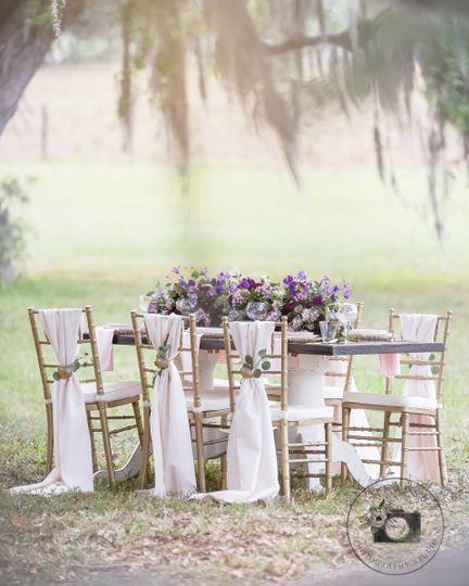 Barington Hills wedding Purple Vintage