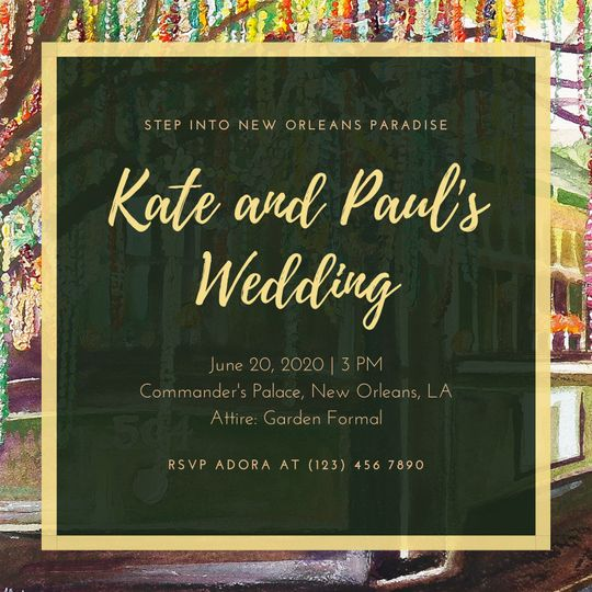 Streetcar Wedding Invitation