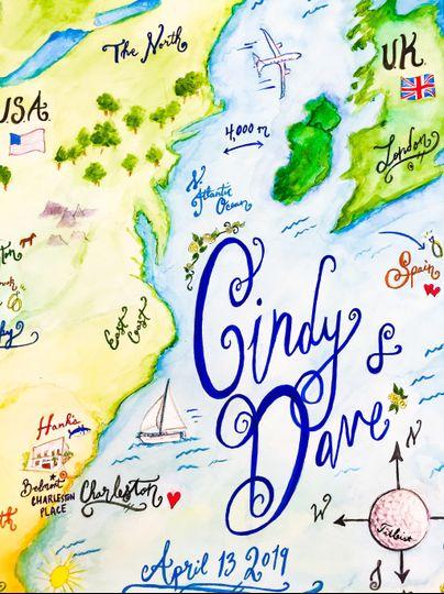 International love story map