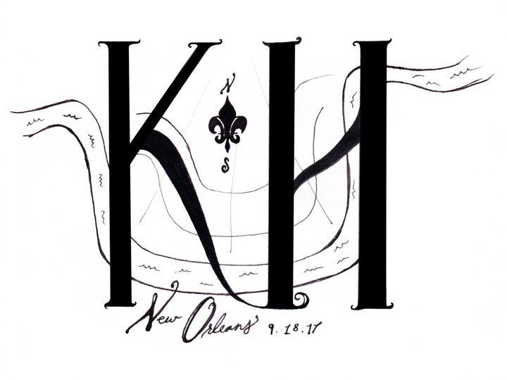 Tmx Logo Design Wedding 51 985705 157444667017116 New Orleans, LA wedding invitation