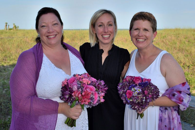With the brides