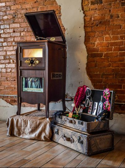 Vintage looking photo booth