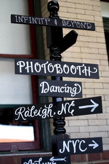 Photo booth sign