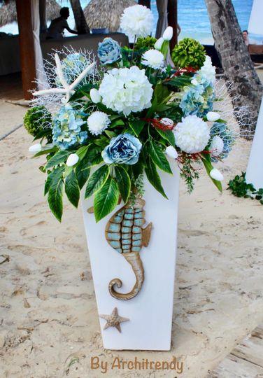 Hippocampus floral decor