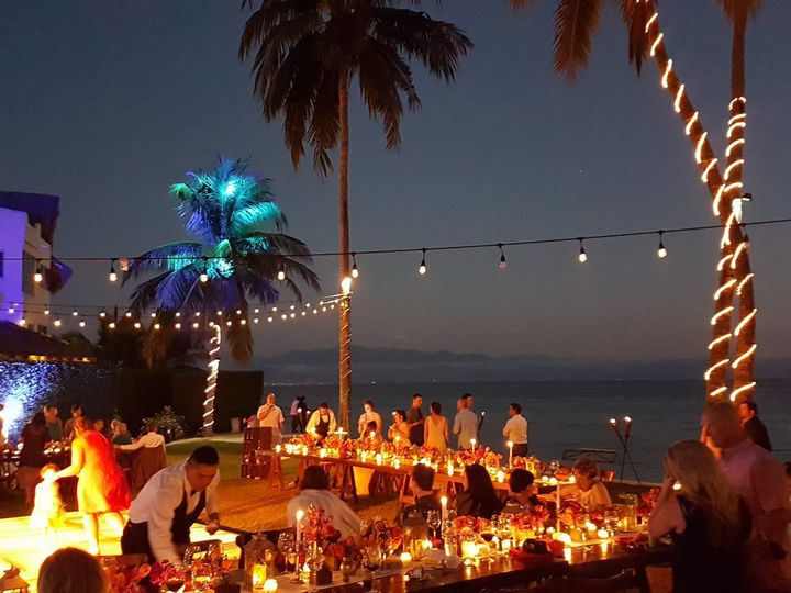long banquet table martoca beach garden