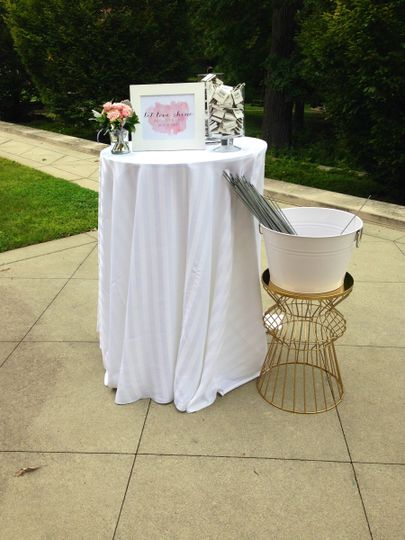 Ready for a fun sparkler send off on the Portico!