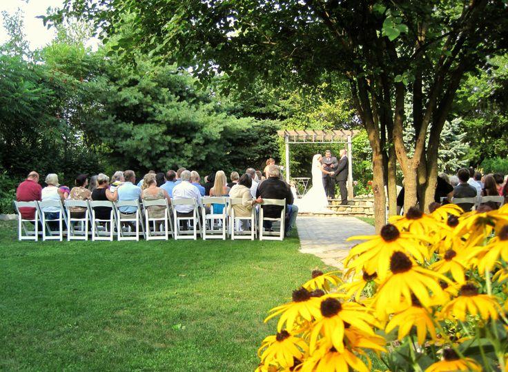 Mill Creek Barns outdoor ceremony, Watervliet, Michigan.
