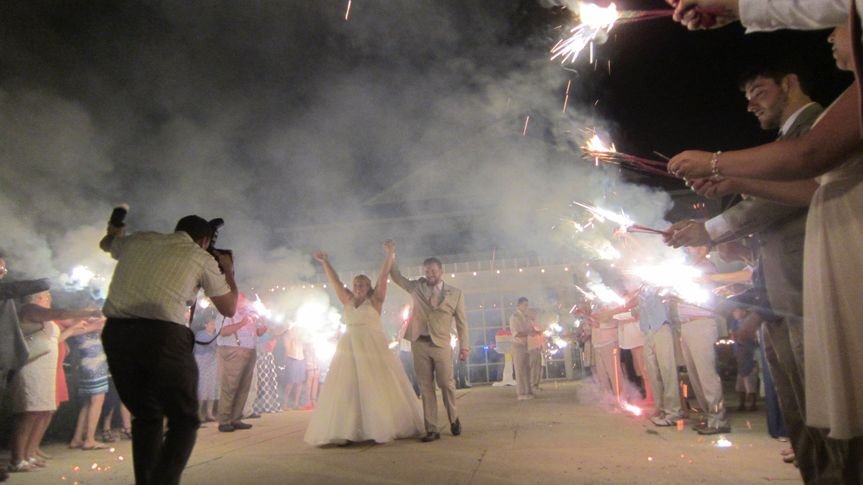 Picture perfect ending to a wonderful reception at Shadowland Ballroom St. Joseph, Michigan.