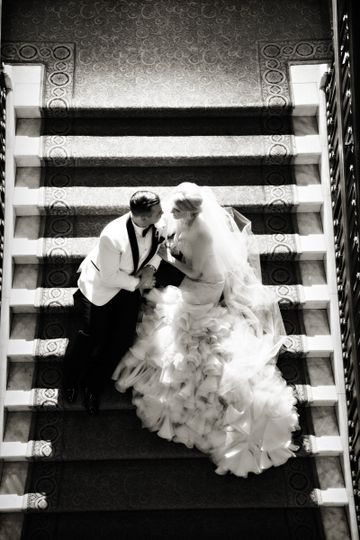 Couple in the staircase