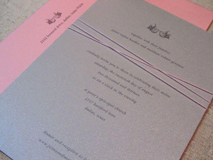 Tmx 1338816604630 INVITEANGLE Dallas wedding invitation