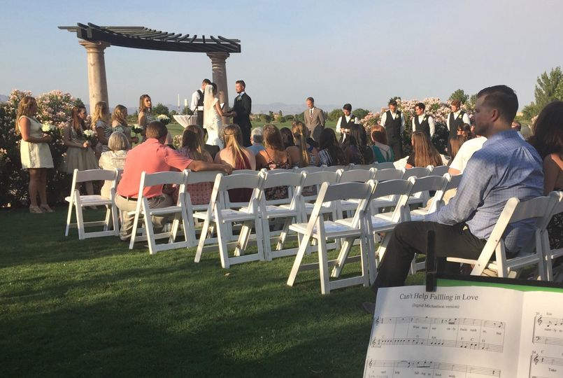 A wedding at Encanterra Country Club, which included accompaniment for a vocalist.