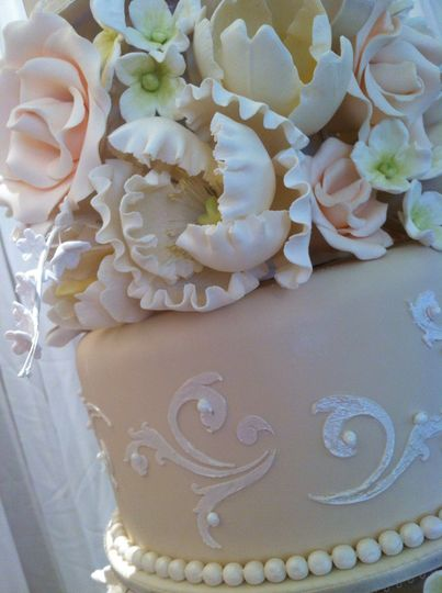Sugar flowers and detailing