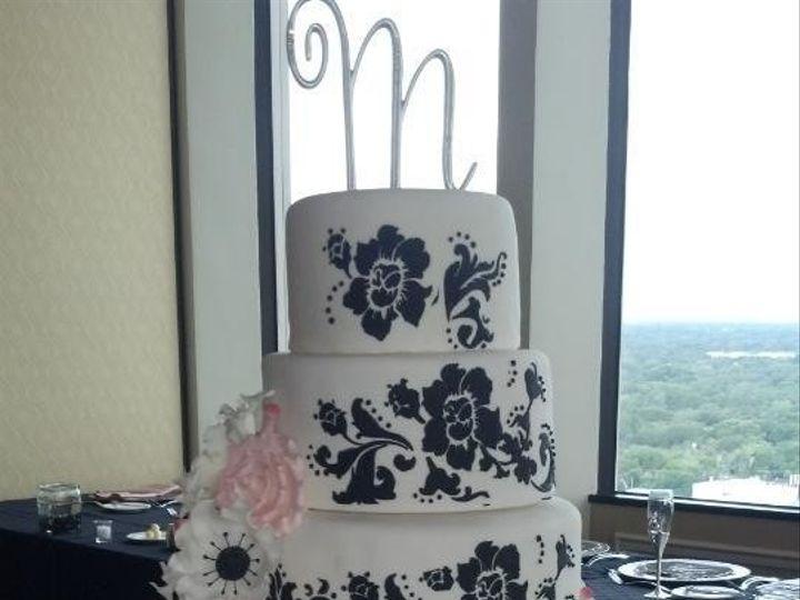 Tmx 1393085706633 Black White N Blush With Anemonie Orlando, FL wedding cake